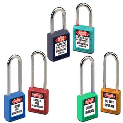 Master Lock® Individually-Keyed Color-Coded Message Padlocks