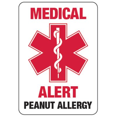 Medical Alert Peanut Allergy - Food Allergy Signs
