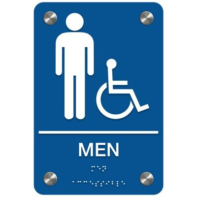 Men (Accessibility) - Premium ADA Restroom Signs