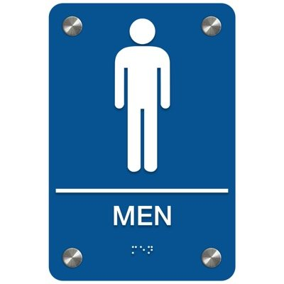 Men - Premium ADA Restroom Signs