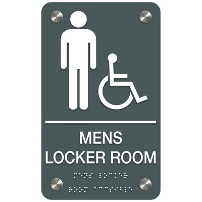 Men's Locker Room (Accessibility) - Premium ADA Facility Signs