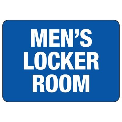 Men's Locker Room - Locker Room Signs