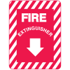 Fire Extinguisher Sign - Metal Fire Equipment Marker
