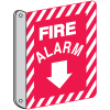 Two-Way Fire Alarm Sign - Metal Fire Equipment Marker