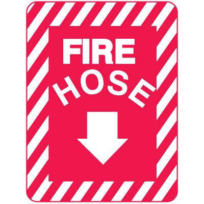 Fire Hose Sign - Metal Fire Equipment Marker