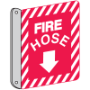 Two-Way Fire Hose Sign - Metal Fire Equipment Marker