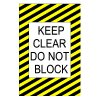Mighty Line Keep Clear Do Not Block Floor Sign
