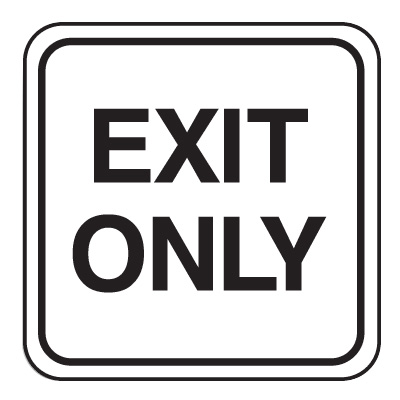 Mini Traffic Signs - Exit Only