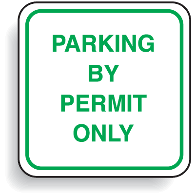 Mini Parking Signs - Parking By Permit Only