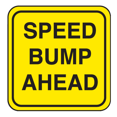 Mini Traffic Signs - Speed Bump Ahead