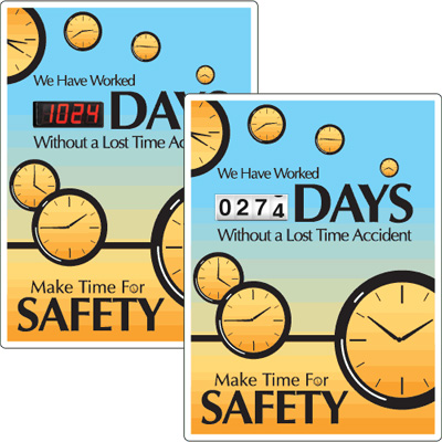 Motivational Safety Scoreboards - Make Time For Safety