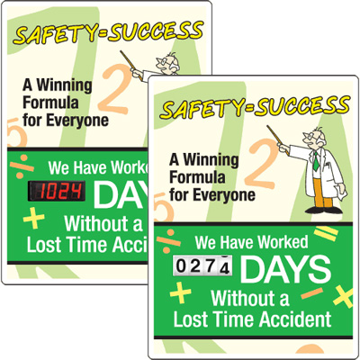 Motivational Safety Scoreboards - Safety Equals Success