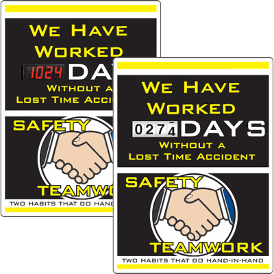 Motivational Safety Scoreboards - Safety Teamwork