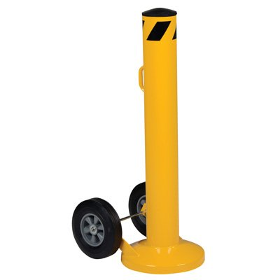 Movable Bollard With Wheels