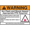 NEC Arc Flash Protection Labels - Warning Arc Flash And Shock Hazard