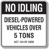 No Idling Signs - Pennsylvania