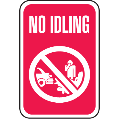 No Idling Signs - with Graphic