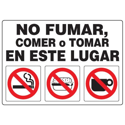 No Smoking Signs - No Fumar En Este Lugar