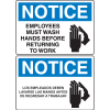 OSHA Notice Signs -Notice Employees Must Wash Hands