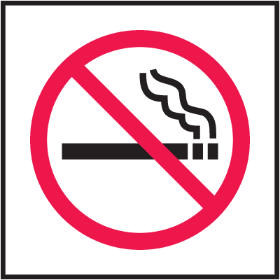 "No Smoking Signs - 4""W x 4""H"