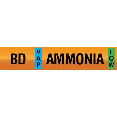 Opti-Code™ Ammonia Pipe Markers - Booster Discharge