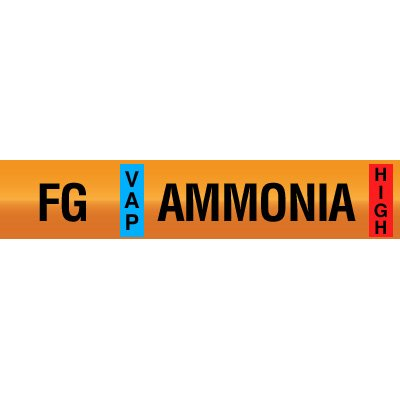 Opti-Code™ Ammonia Pipe Markers - Foul Gas