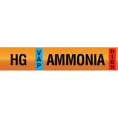 Opti-Code™ Ammonia Pipe Markers - Hot Gas