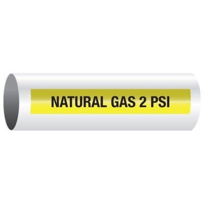 Opti-Code™ Self-Adhesive Medical Gas Pipe Markers - Natural Gas 2 PSI