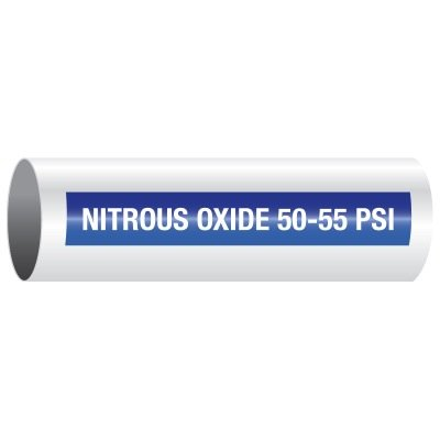 Opti-Code™ Self-Adhesive Medical Gas Pipe Markers - Nitrous Oxide 50-55 PSI