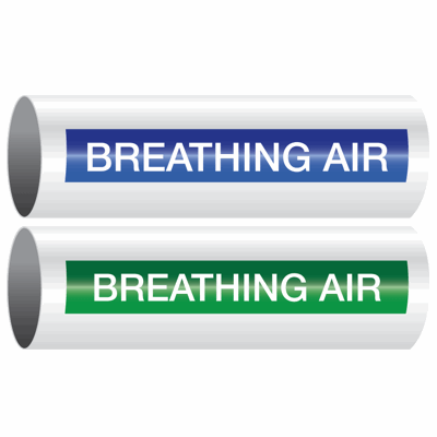 Opti-Code™ Self-Adhesive Pipe Markers - Breathing Air