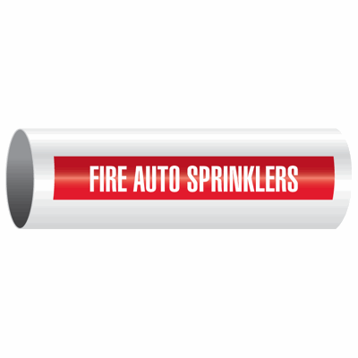 Opti-Code™ Self-Adhesive Pipe Markers - Fire Auto Sprinklers