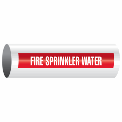 Opti-Code™ Self-Adhesive Pipe Markers - Fire Sprinkler Water