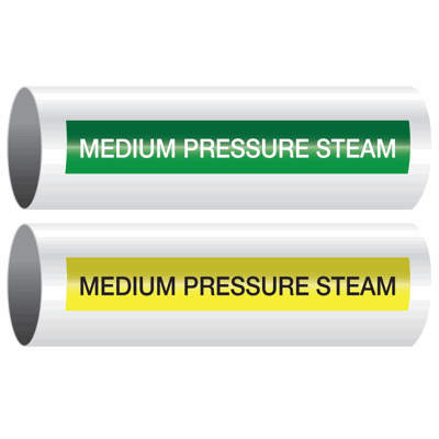 Opti-Code™ Self-Adhesive Pipe Markers - Medium Pressure Steam