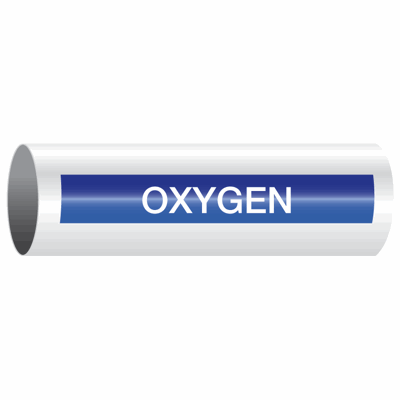 Opti-Code™ Self-Adhesive Pipe Markers - Oxygen
