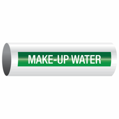 Opti-Code™ Self-Adhesive Pipe Markers - Make-Up Water