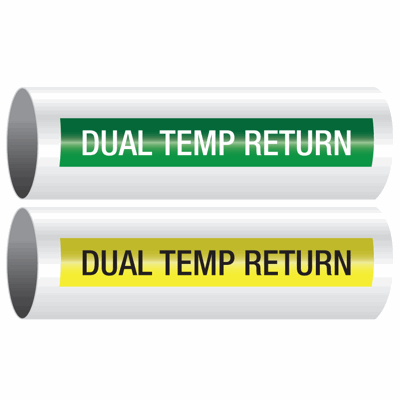 Opti-Code™ Self-Adhesive Pipe Markers - Dual Temp Return