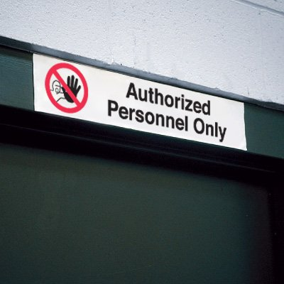 Overhead Sign - Authorized Personnel Only