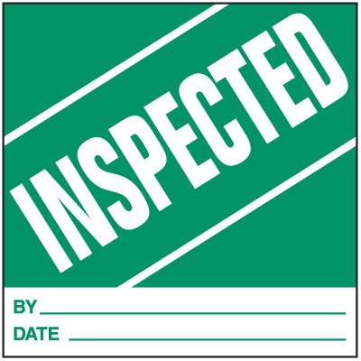 Inspected Handling Label