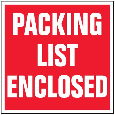 Package Handling Label