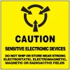 Caution Sensitive Electronic Devices Shipping Label