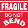 Fragile Do Not Bend Package Handling Label