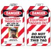 Padlock Tags with Self-Laminating Photo - Danger Equipment Tagged Out