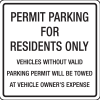 Parking Permit Signs - Parking For Residents Only