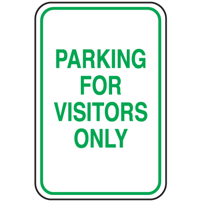 Parking Signs - Parking For Visitors Only