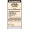 Spiral Parking Violation Tickets