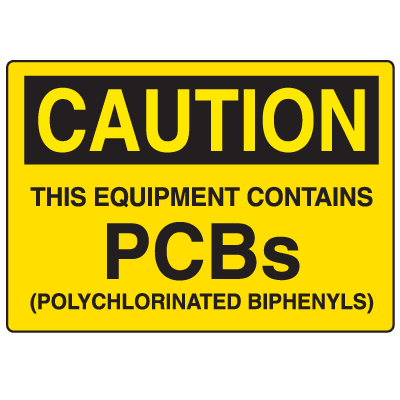 PCB Labels - Equipment Contains PCBs