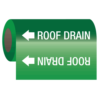 Self-Adhesive Pipe Markers-On-A-Roll - Roof Drain