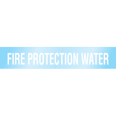 Poly-Code™ Clear Self-Adhesive Pipe Markers - Fire Protection Water