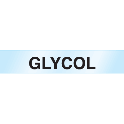 Poly-Code™ Clear Self-Adhesive Pipe Markers - Glycol