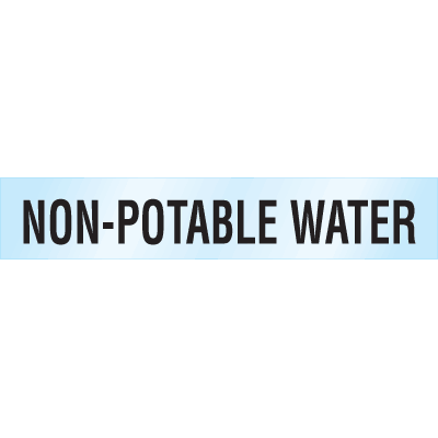 Poly-Code™ Clear Self-Adhesive Pipe Markers - Non-Potable Water